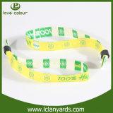 Neuf bracelet d'impression de logo tissé par bracelets pour l'événement