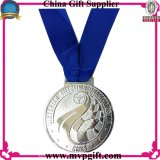 Medalha do metal com gravura do logotipo do cliente 2D-3D