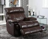 حديثة يعيش غرفة جلد [ركلينر] تدليك أريكة ([أول-نس411])
