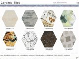 L'art mural en céramique et carreaux de plancher pour Decoravtion (VR2n2305, 200x230mm)