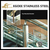 Het Traliewerk van de Trede van het Glas van de Kosten van de lage Prijs/de Duidelijke Systemen van het Traliewerk van het Roestvrij staal van het Glas