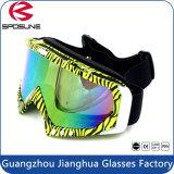 Dobrável fora dos óculos de proteção do motocross da juventude da lente da estrada/dos vidros segurança matizados coloridos da motocicleta