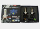 Wasserdichtes Hauptlicht der 12V 24V 50W 6000lm Philips-Zen Chip-X3 H7 LED