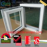 Vetratura doppia di Windows di Rehau del PVC di girata standard australiana tedesca di inclinazione