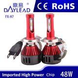 indicatore luminoso dell'automobile di 6000k 4800lm LED con il ventilatore Canbus Bulti-in