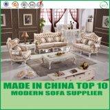 Sofà di legno del tessuto di svago della mobilia classica per il salone