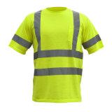 T-shirt élevé de visibilité de sûreté courte r3fléchissante de chemise