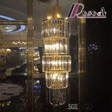 Französischer moderner großer zylinderförmiger Luxuxkristallleuchter für Versammlung Hall