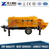 Mini betoniera mobile con il camion del tubo flessibile del tubo della pompa