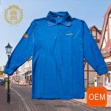 Изготовленный на заказ печатание тенниски пола, голубая тенниска Workwear DHL