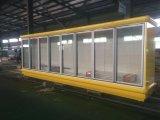 2000L Big Volum vidrio puerta de gabinete de visualización de alimentos congelados