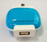 il caricatore del USB 5V/1A con il caricatore di corsa per li inserisce standard dell'Ue