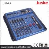 2 Output 8 Mixer USB van de manier van het Systeem van het Kanaal de PRO Audio Correcte
