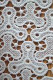 豪華な刺繍パターンが付いている新式のポリエステルレースファブリック