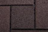 Azulejo de goma estándar de RoHS que enclavija no el azulejo de suelo del resbalón para el jardín/el exterior