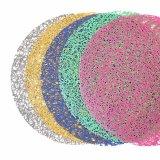 カラーは卓上及びフロアーリングのためのPEの場所マットをカスタマイズした