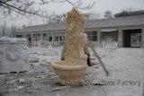 Fontana di marmo Mf-021 del leone della fontana della pietra della fontana di parete
