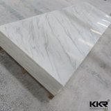 Kkr 도매 6/12mm 빙하 백색 아크릴 단단한 지상 장