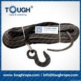 Fibra 100% resistente de Uhwmpe da corda da corda sintética cinzenta do guincho da cor 8mmx30m4X4