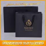 Papel Impreso Negro Embalaje de regalo Bolsa de la compra