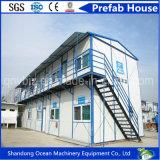 Casa prefabricada favorable al medio ambiente del edificio del arreglo para requisitos particulares del panel de la estructura de acero y de emparedado con el presupuesto inferior