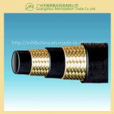 Il filo di acciaio intrecciato ha rinforzato il tubo flessibile idraulico coperto gomma (SAE100 R2-1/4)