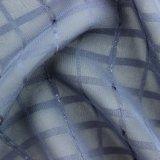 Tessuto chiffon del jacquard a strisce metallico blu del filato da vendere
