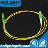 E2000AシンプレックスSmの黄色への光ファイバパッチケーブルSca