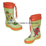 Pintura de mão natural colorida Botas de chuva de chuva de chuva