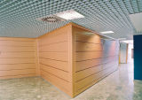 Perforted 격자 도와의 현대 천장 디자인 외부 장식