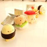 Juguete de encargo de la felpa de Keychain del sushi