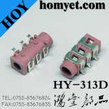 3.5mm 6pin 입체 음향 오디오 잭 다채로운 복각 전화 플러그 구멍 (HY-313B-YE)