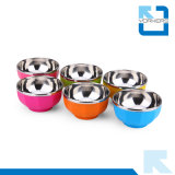 Assiette colorée en acier inoxydable et PP en métal Bowl Baby Bowl