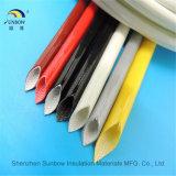Glasvezel de op hoge temperatuur Sleeving van het Silicone voor de Bescherming van de Draad