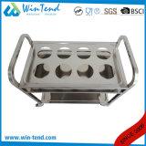 中国の熱い販売の正方形の管2層のやかんは不用な版のトロリーを集め、