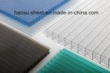 6mm Sun Wand-Polycarbonat-Höhlung-Körper-Blatt des Vorstand-vier