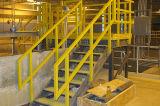 Escada de etapa da escada do corrimão/material de construção/fibra de vidro de FRP