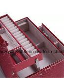 Случай устроителя хранения коробки зеркала PU ювелирных изделий кожаный