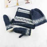 Ashion связало шарф с перчатками зимы &Glove &Hat, комплект перчатки шарфа шлема