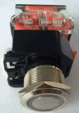 commutateur de bouton poussoir en métal de 10A 660V DEL