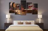 HD imprimiu os vidros de vinho vermelho ordinários que pintam na lona Mc-005 do retrato do poster da cópia da decoração do quarto da lona