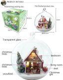 Luz decorativa de Natal Dollhouse Esferas de vidro DIY
