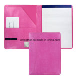 Trendy Color Leather Cover A4 Foldover Porte-notes