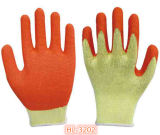 10g 2 fils Polycotton Latex Palm Coating Glove