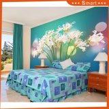 Moderner Wand-Kunst-Lilien-Blumen-Dekor-kundenspezifisches Ölgemälde/Tapete für Haus-Innendekoratives