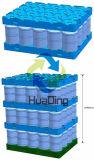 Barrinhas de água de 5 galões Armazenamento e distribuição Paletes de plástico usadas