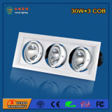 Super Bright 90lm / W 90W Aluminium LED Grille Light pour restaurant