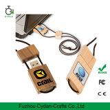 Federn USB-1GB mit hölzernem Material