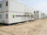 Modernes Zwischenlage-Panel-ökonomisches Flachgehäuse-vorfabriziertes Behälter-Büro-Haus