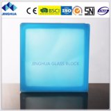 Jinghua Misty Cloudy Turquoise Color 190X190X80mm Glass Brick/block
